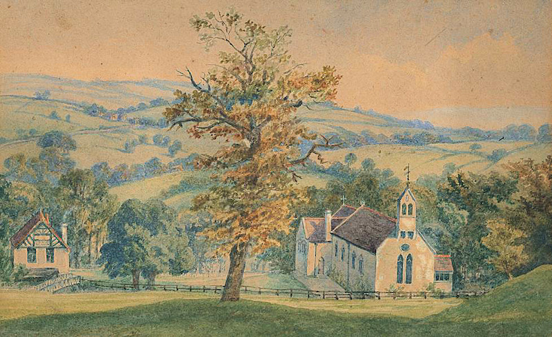 St Martin's, as built in 1870: contemporary watercolour